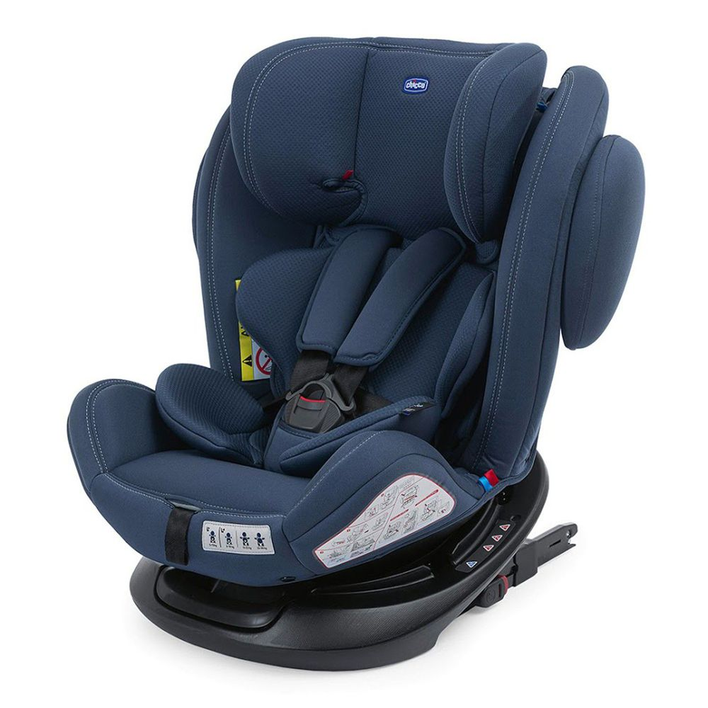 義大利 chicco - Unico 0123 Isofit安全汽座-印墨藍