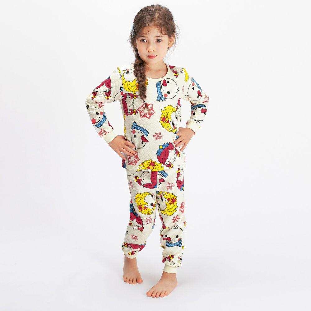 韓國 Mellisse - 韓製鋪棉保暖無螢光棉長袖家居服-冰雪姐妹