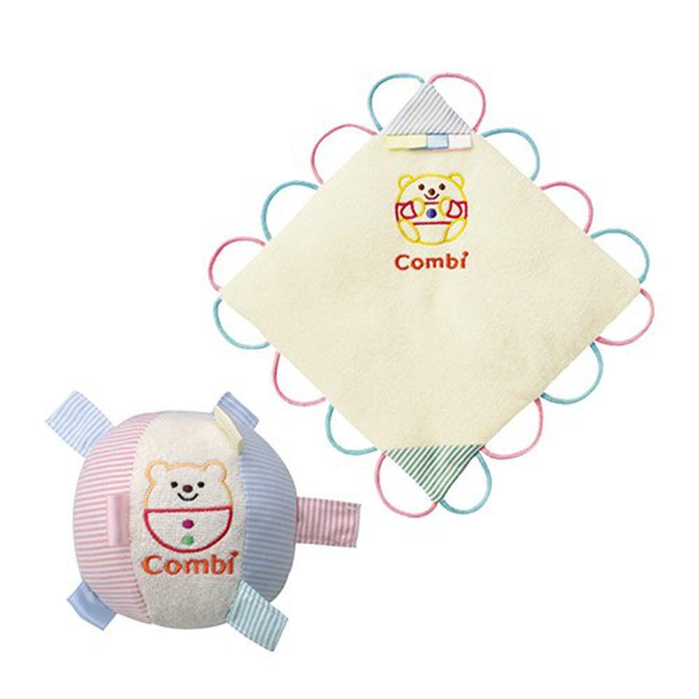 日本 Combi - 歡樂寶貝手巾+寶貝球-3個月以上