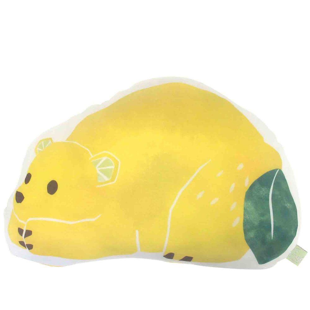 日本 DAIKAI - 接觸涼感造型抱枕-檸檬熊熊 (34x22cm)
