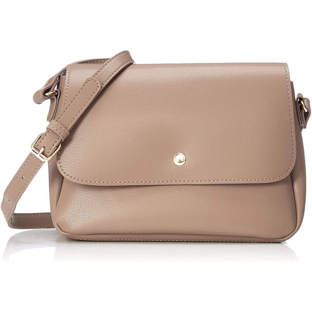 日本 Legato Largo - 輕量PU時尚單背包-BE棕色 (16x23x10cm 肩背約88~122cm 附IC卡夾*1)-預購