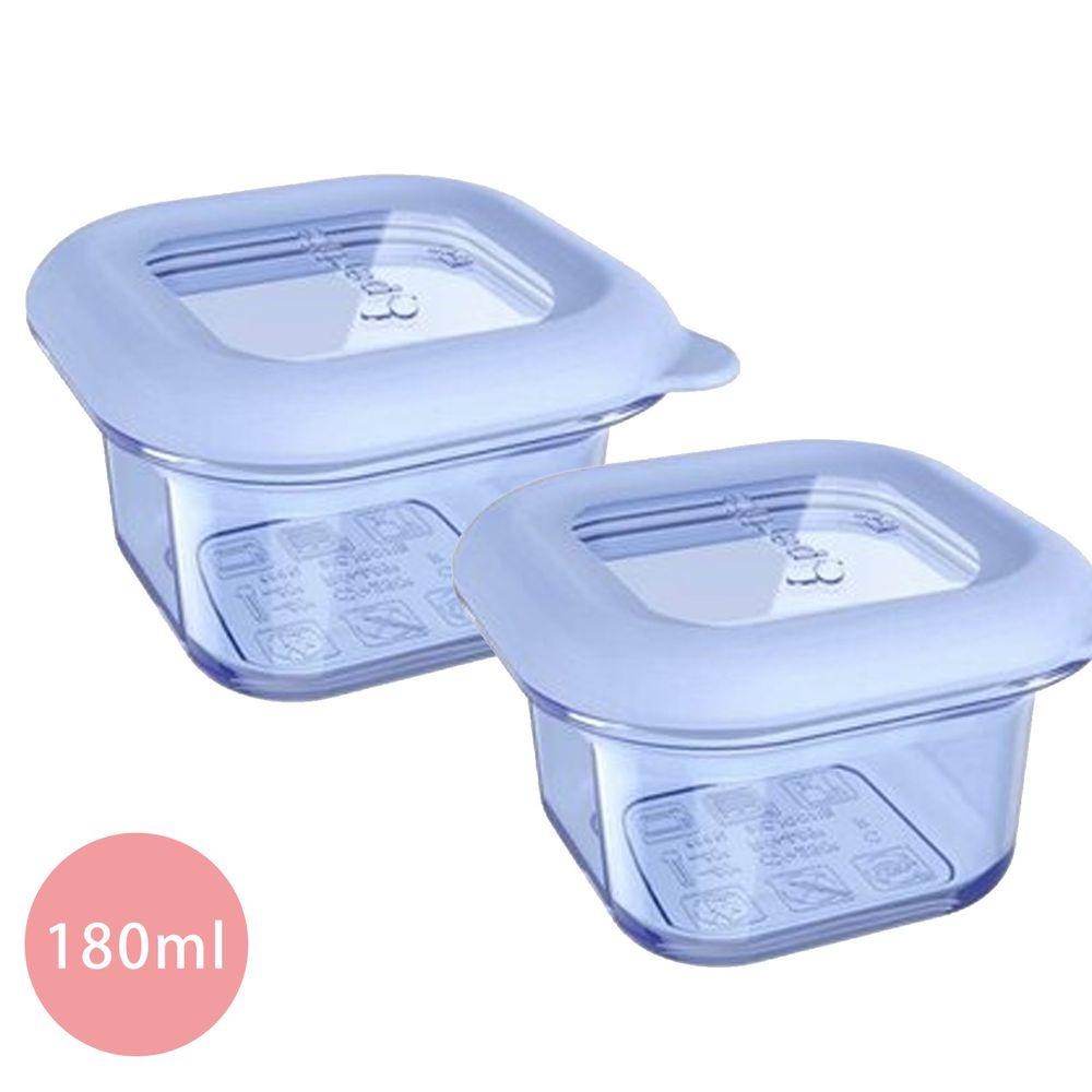 加拿大帕緹塔Partita - 矽膠保鮮輔食盒2入-正方形-藍色 (180ml)-9x9x5.5cm