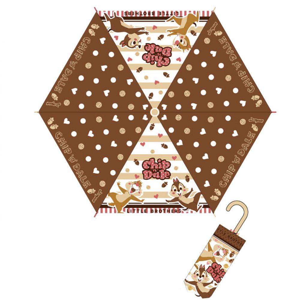 日本代購 - 卡通折疊雨傘-奇奇蒂蒂-咖啡點點 (53cm(125cm以上))