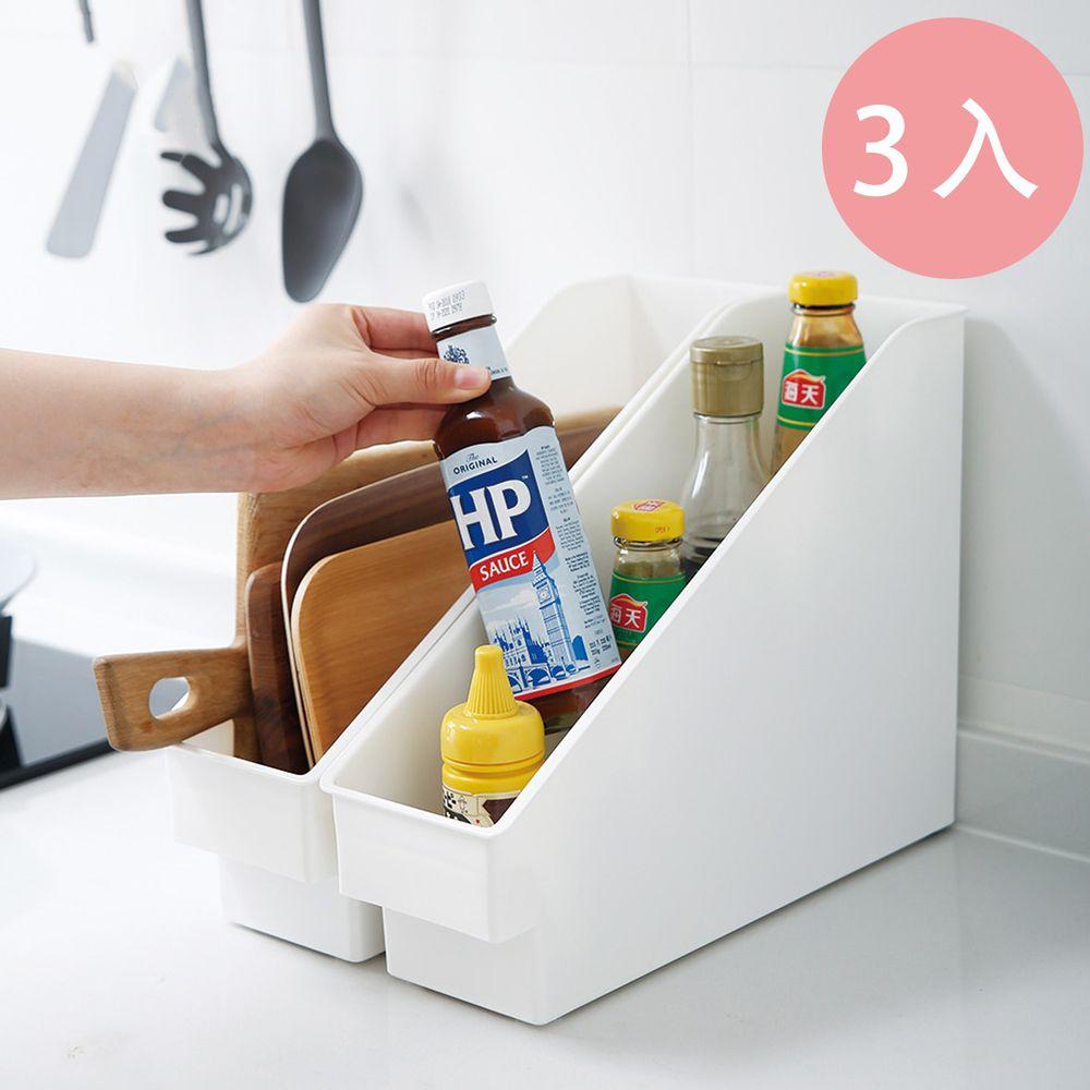 日本霜山 - 斜取式廚櫃隙縫多功能收納盒(附輪)-3入