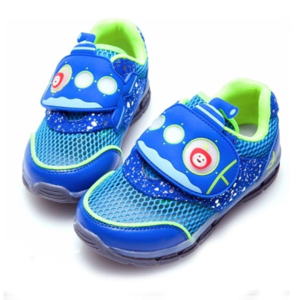 Dr. Apple - 機能童鞋-潛水艇海底冒險-藍