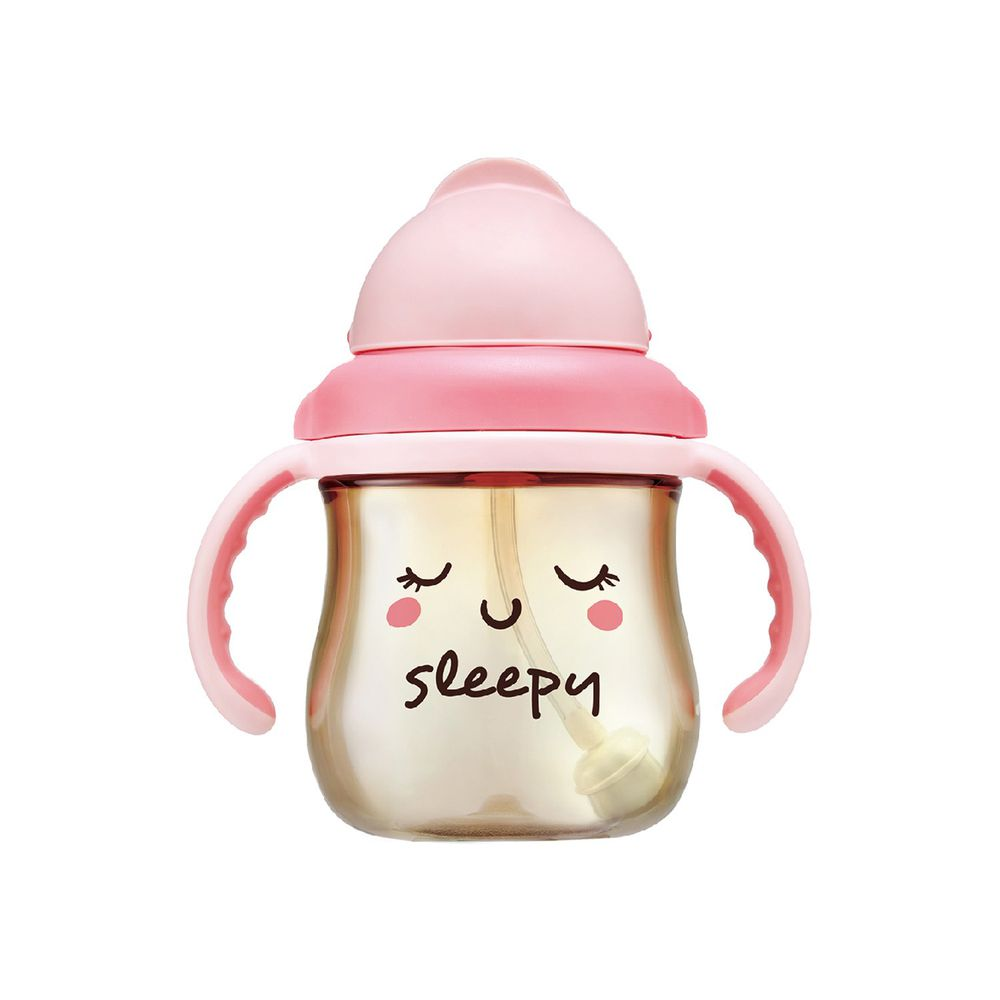 Simba 小獅王辛巴 - 好心情PPSU滑蓋杯-睡飽飽了莓-粉紅-250ML
