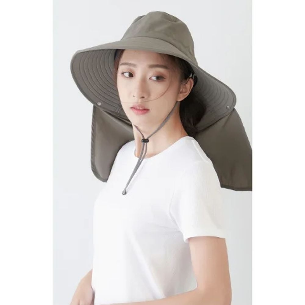 貝柔 Peilou - UPF50+多功能四折遮陽帽-深灰色 (頭圍:59cm)
