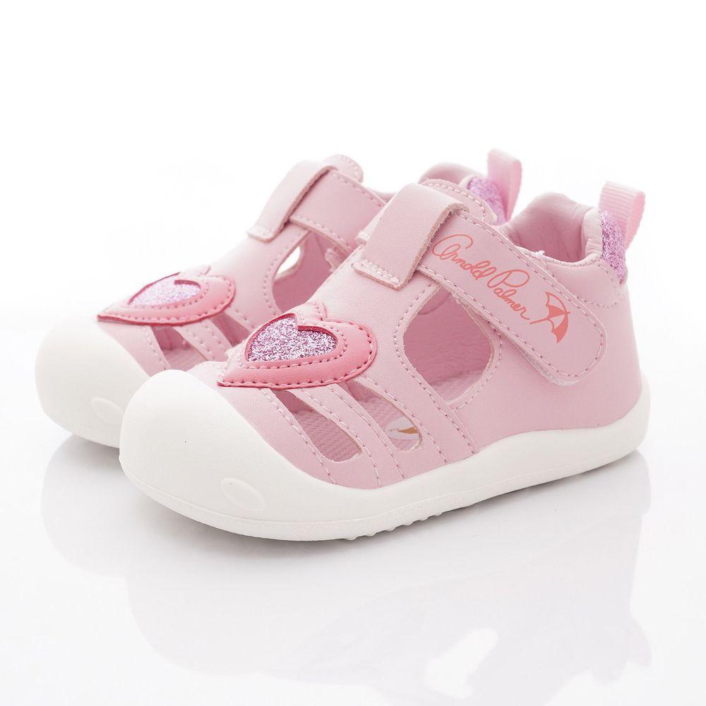 Arnold Palmer 雨傘牌 - 護趾愛心洞洞鞋款(寶寶段)-粉紅