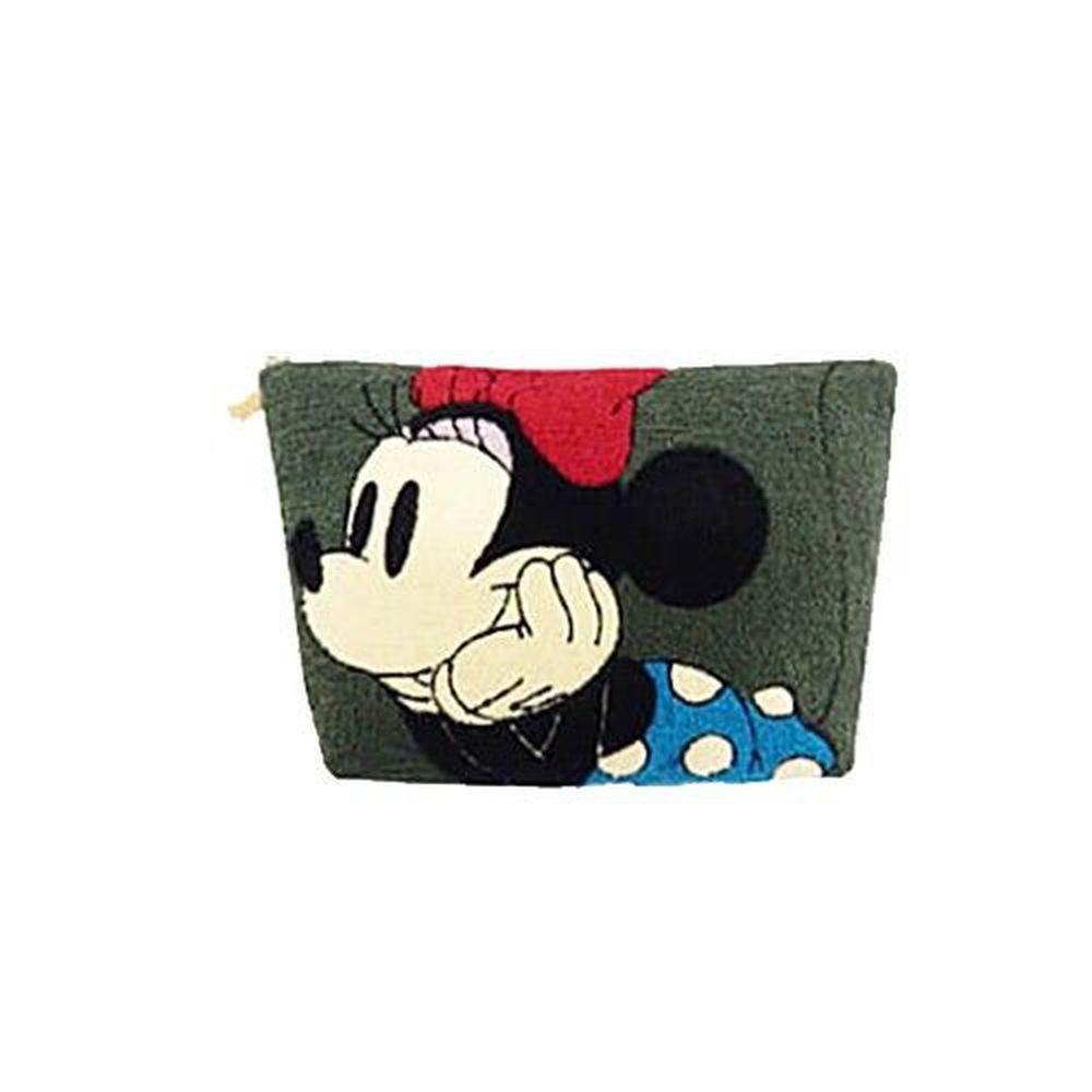 日本迪士尼 - ACCOMMODE相良刺繡包-米妮-墨綠 (18x28x4cm)