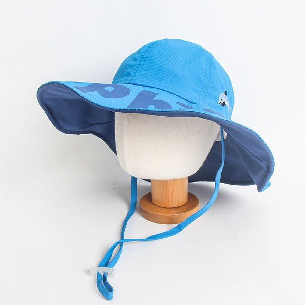 韓國 Babyblee - 雙色可塑型遮陽帽-藍 (頭圍:52cm)