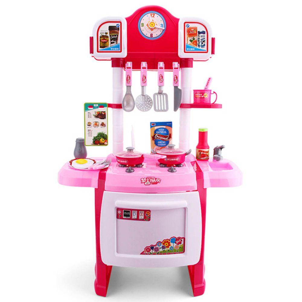 酷比樂 - 升級豪華聲光廚具組-粉紅色