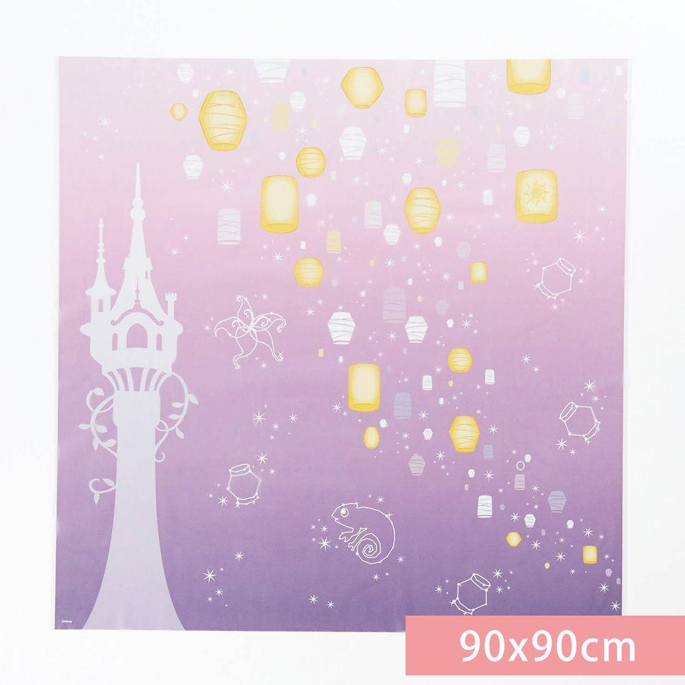 日本千趣會 - 迪士尼 日本製 90%抗UV光影窗貼(靜電式)-長髮公主-紫 (90x90cm)