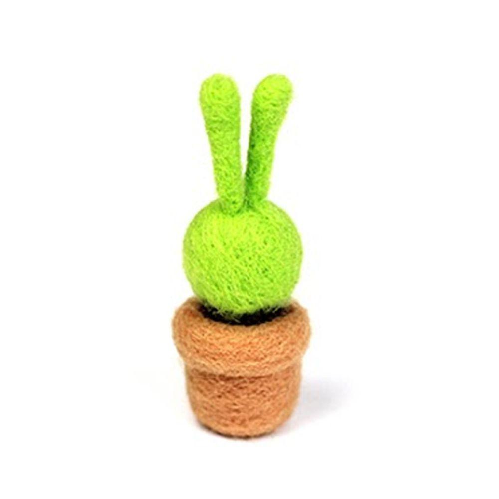 Diy植物造型羊毛氈戳戳樂材料包-兔子仙人掌