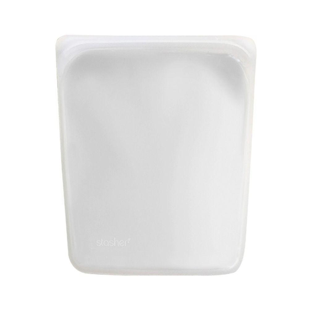 Stasher - 食品級白金矽膠密封食物袋-大長形-雲霧白 (1899ml)