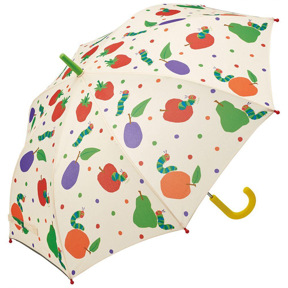 日本 SKATER 代購 - 兒童直傘(附安全反光貼條)-好餓的毛毛蟲 (55cm(130cm以上))