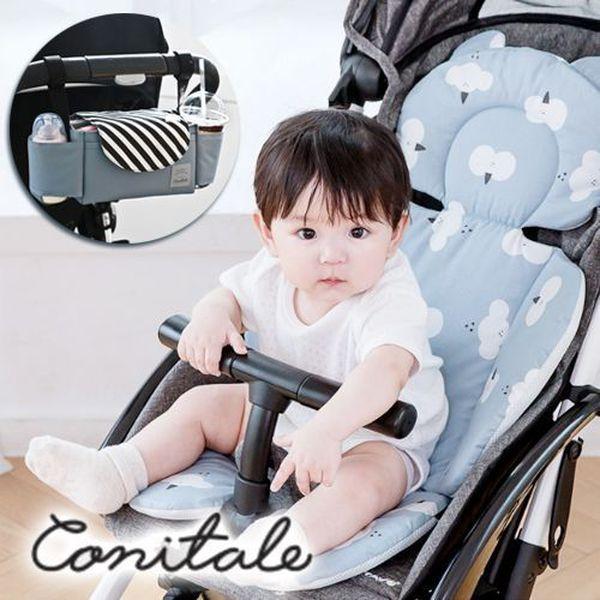 正韓 Conitale 輕鬆收納,優雅外出-推車置物袋/保暖毯