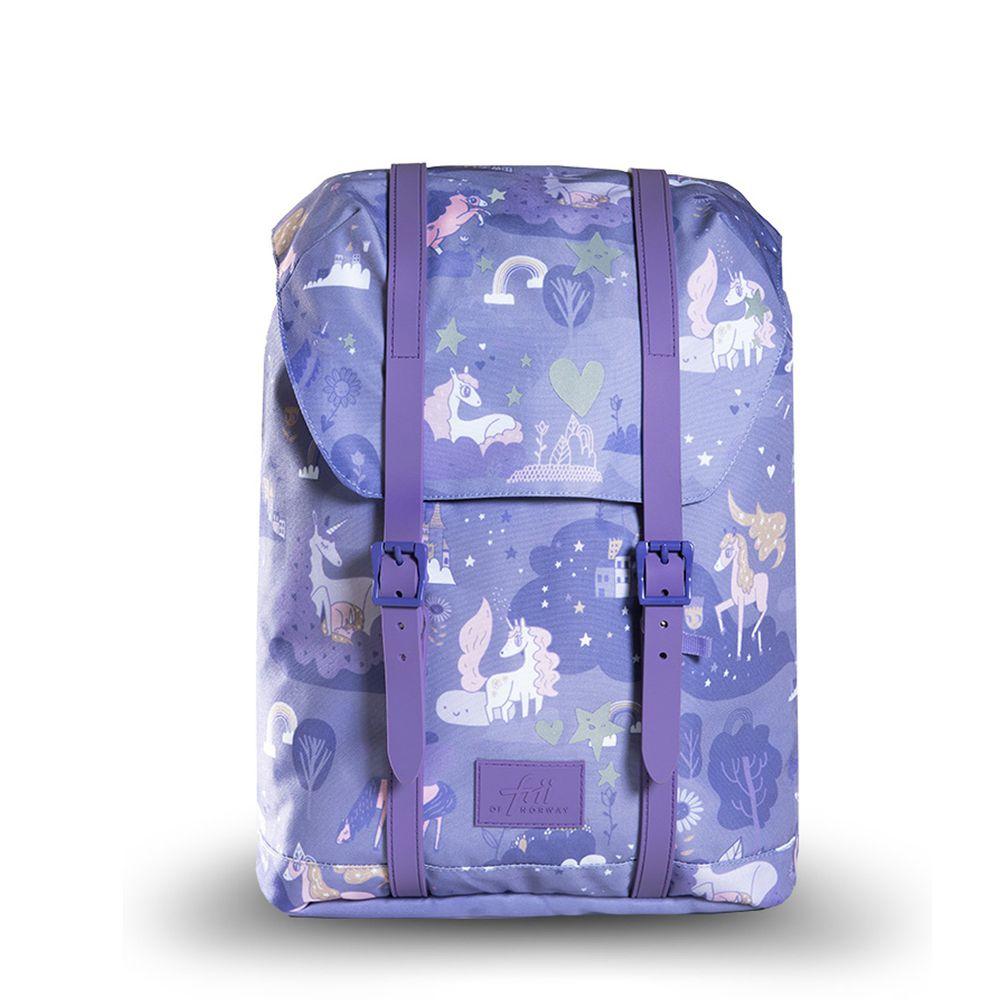 挪威Frii - 輕量護脊書包-獨角獸紫 (22L)-2020新款