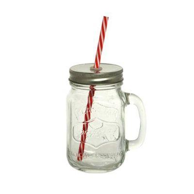2WAY玻璃沙拉飲料杯(附吸管+有洞飲料蓋+無洞沙拉蓋)-無色-380ml