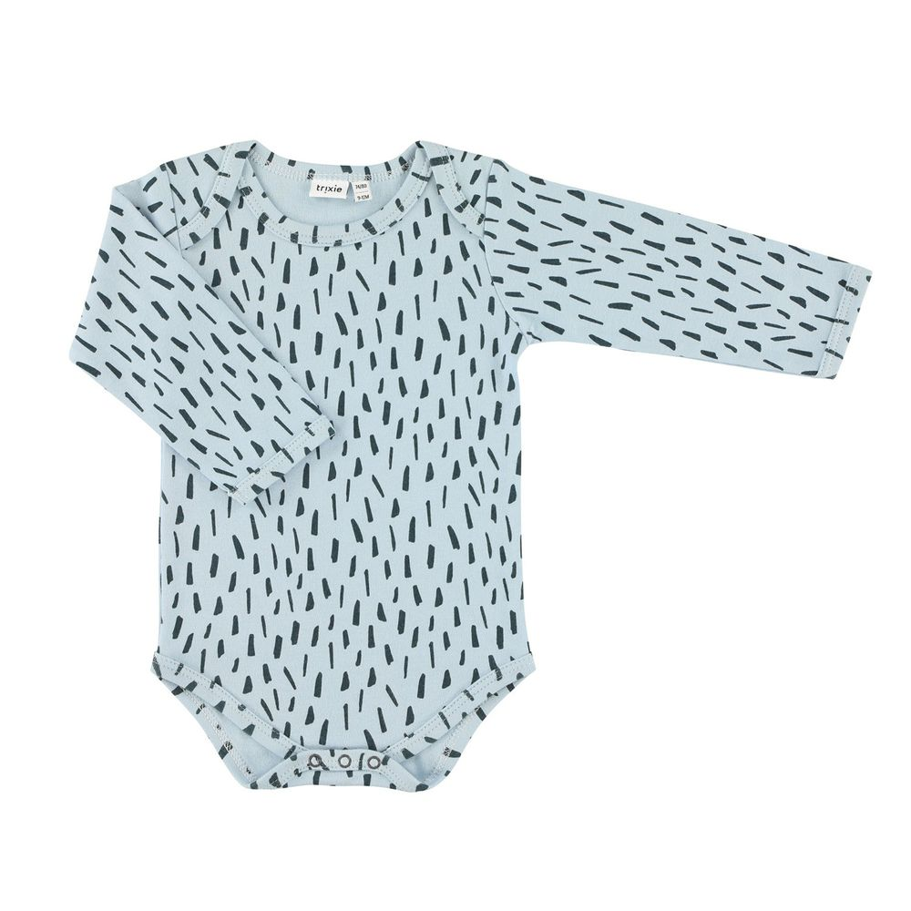 trixie baby - 有機棉長袖包屁衣-藍色森林