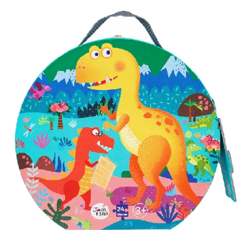 西班牙 JoanMiro - 兒童地板拼圖-恐龍樂園-24PCS