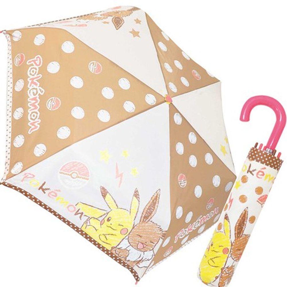 日本代購 - 卡通折疊雨傘-皮卡丘與伊布 (53cm(125cm以上))