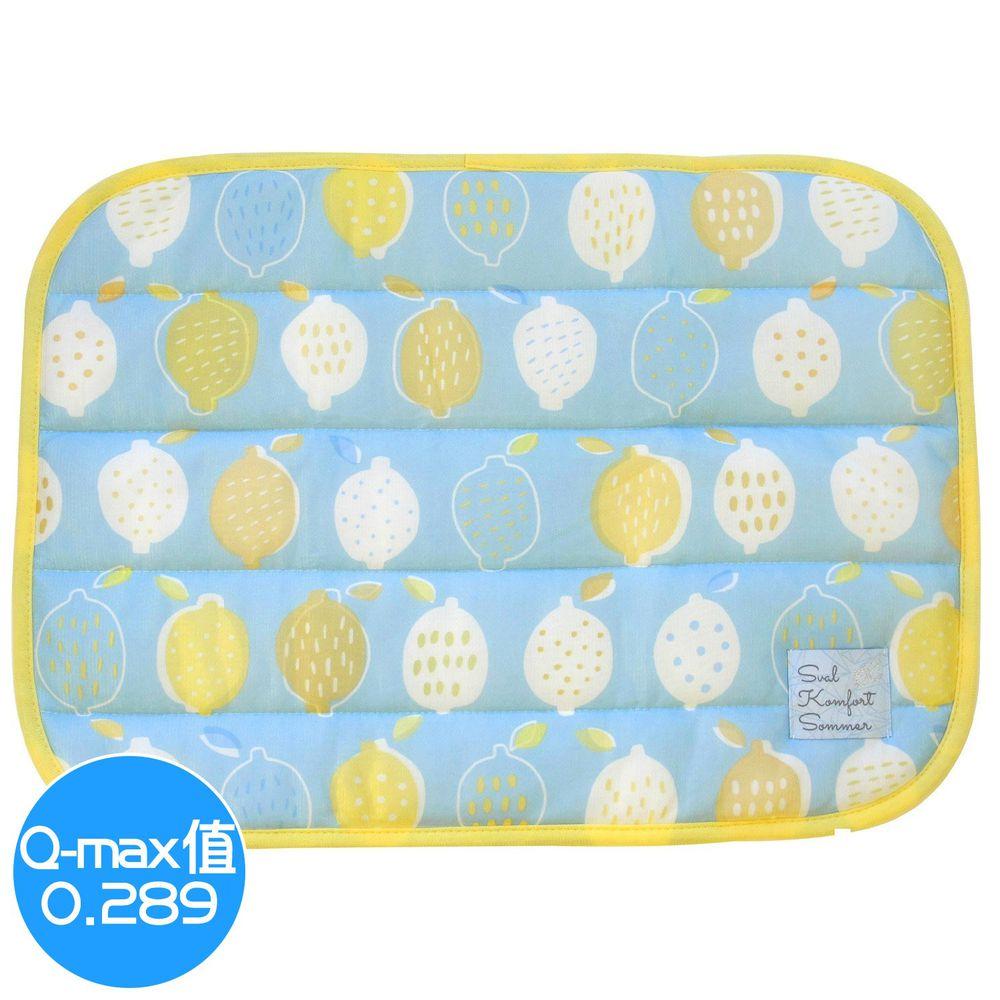 日本 DAIKAI - 接觸涼感枕頭套-檸檬-藍黃 (50x37cm)