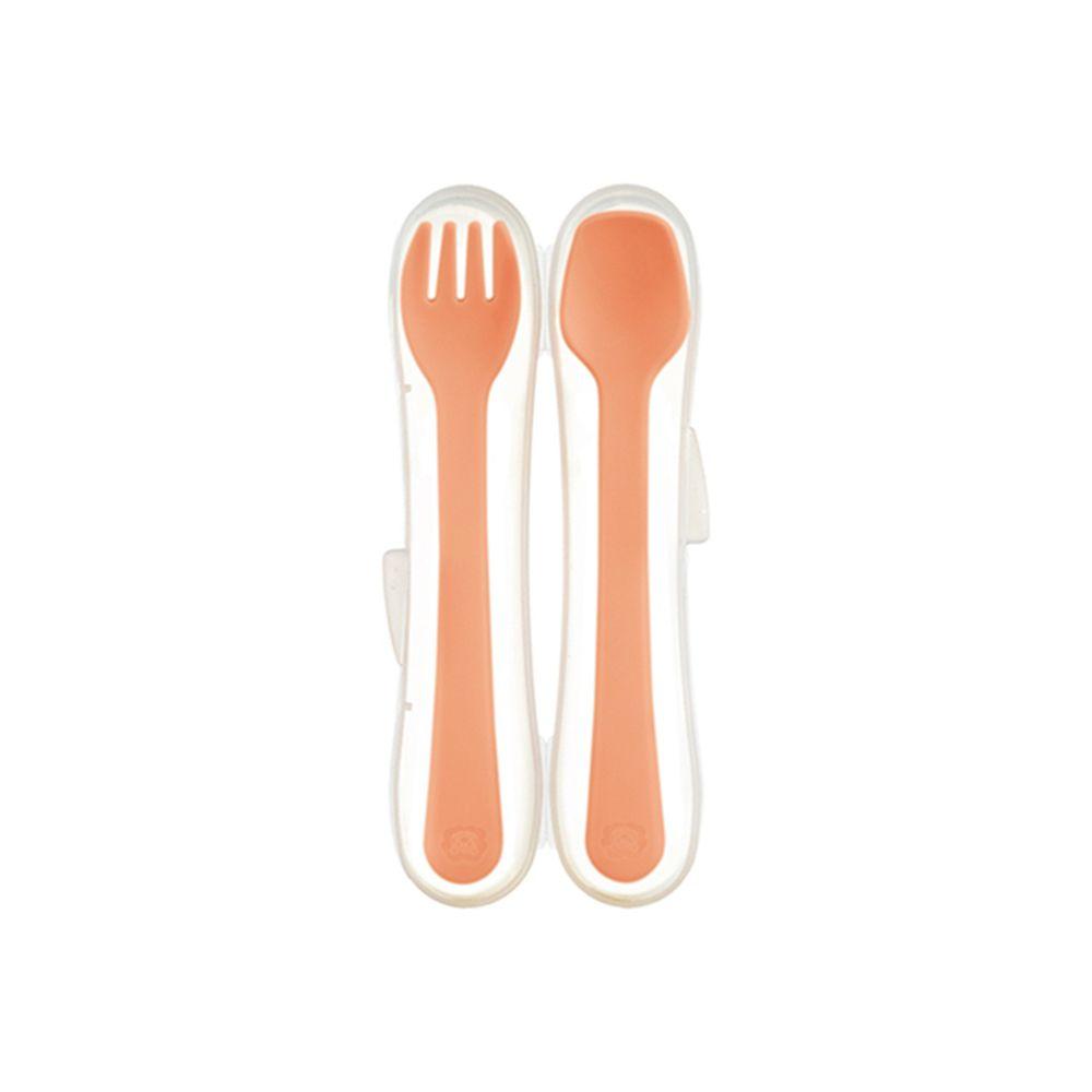 Simba 小獅王辛巴 - 美味學習叉匙組-陽光橙食(橙色)