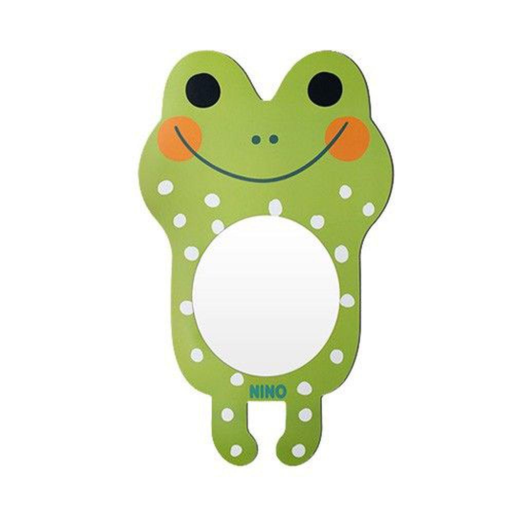 韓國 NINO - 兒童彩繪壁貼鏡-微笑大眼蛙 (38.5*63cm)