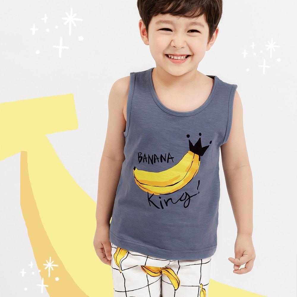 韓國 Mellisse - 韓製極致細柔無袖家居服(無螢光棉)-香蕉王國的國王