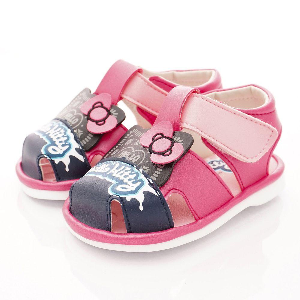 HELLO KITTY - 凱蒂卡通童鞋-餅乾造型BIBI涼鞋款(寶寶段)-桃