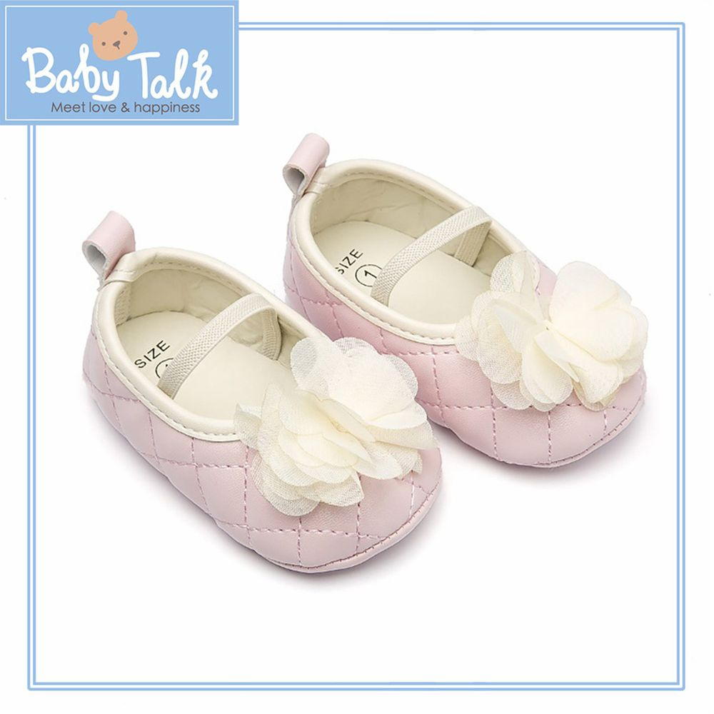 BABY TALK - 學步鞋-小香風/鬆緊帶-粉紅色