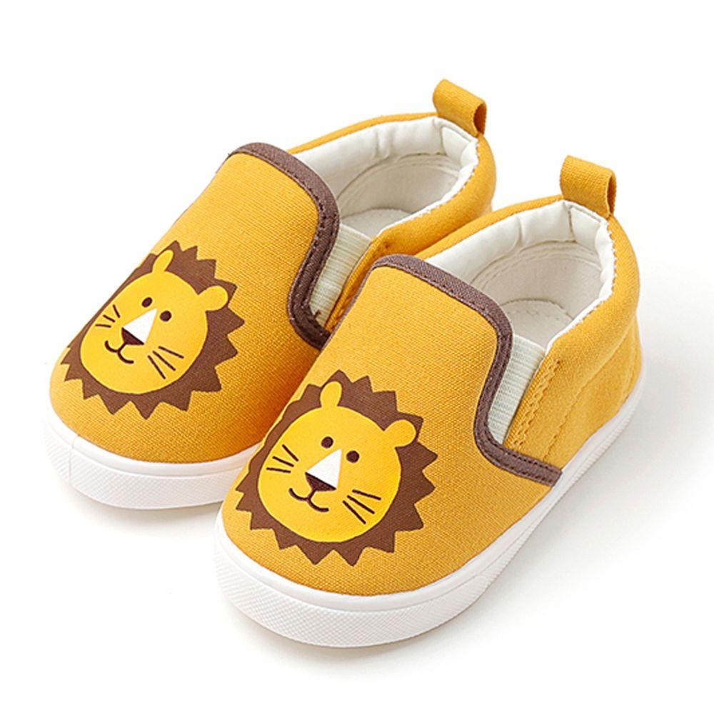 韓國 OZKIZ - 可愛動物兒童休閒鞋/室內鞋-獅子