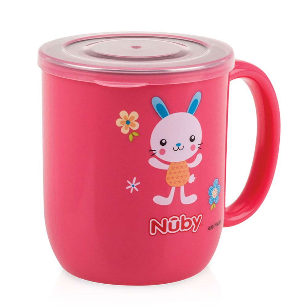 Nuby - 不銹鋼喝水杯-粉