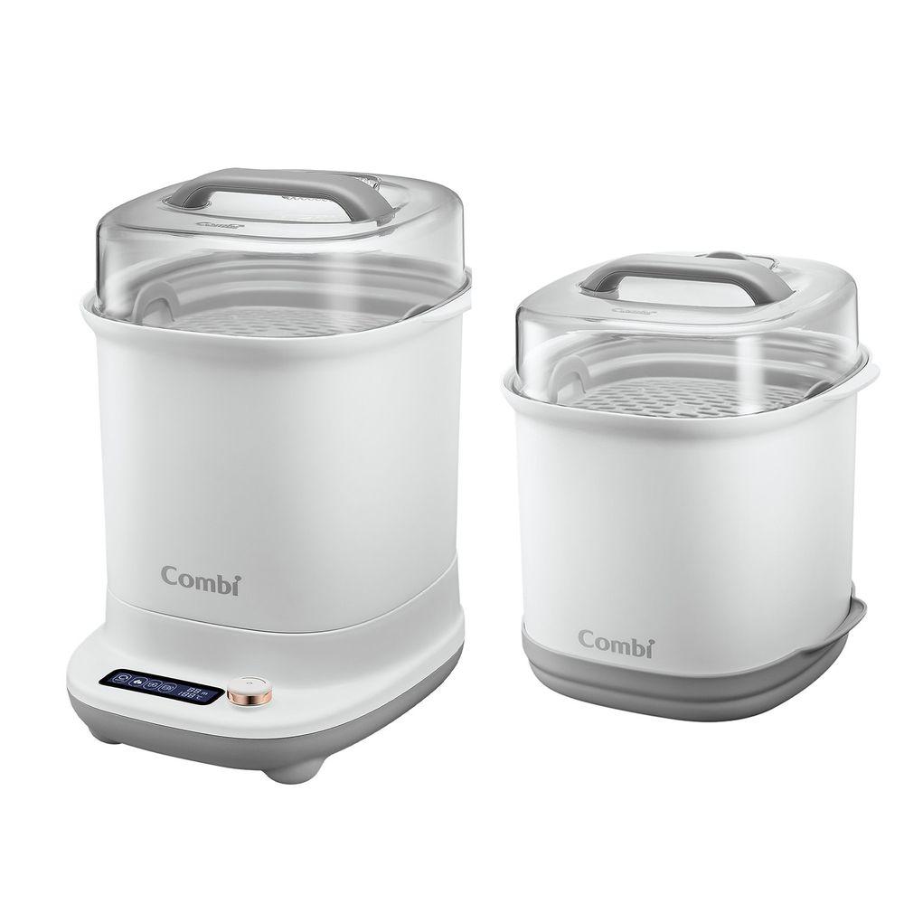 日本 Combi - GEN3消毒溫食多用鍋-1 + 1 實用組-金緻白-消毒溫食多用鍋+奶瓶保管箱