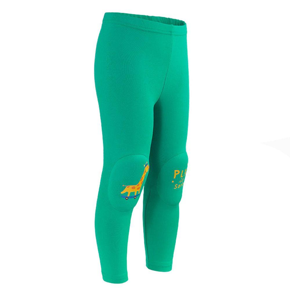韓國 OZKIZ - 護膝彈力緊身褲-綠長頸鹿