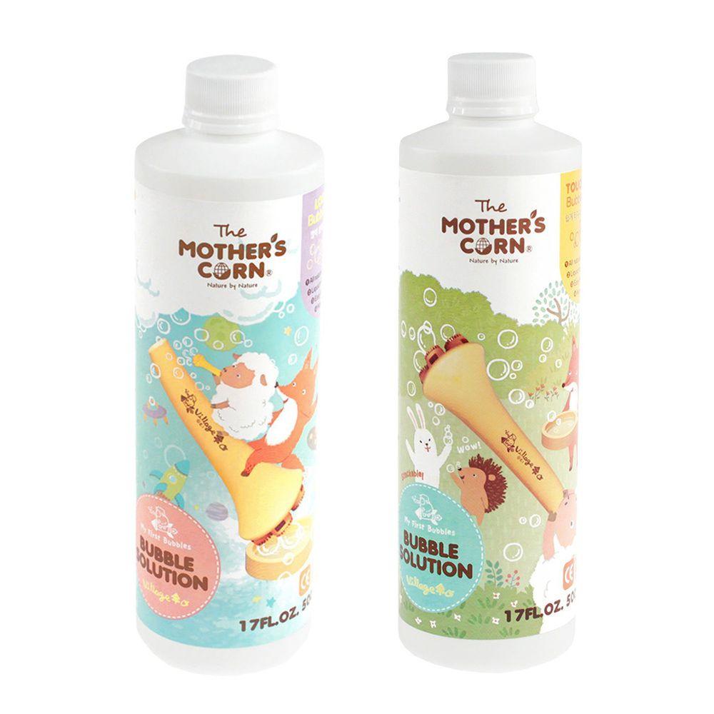 韓國 Mother's Corn - 兒童專用超多泡泡補充罐(500ml)*1入+兒童專用不易破泡泡補充罐(500ml)*1入