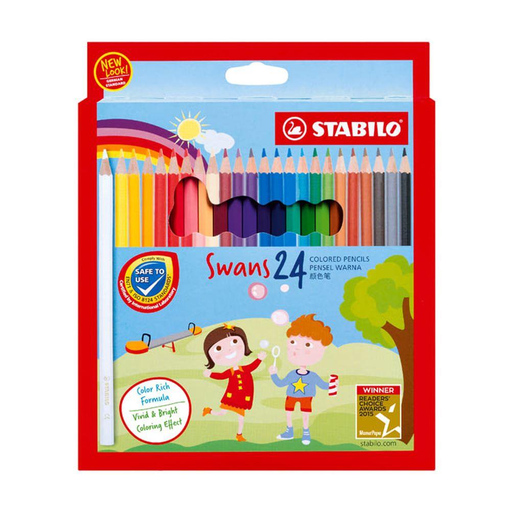 STABILO思筆樂 - Swans油性色鉛筆 24色