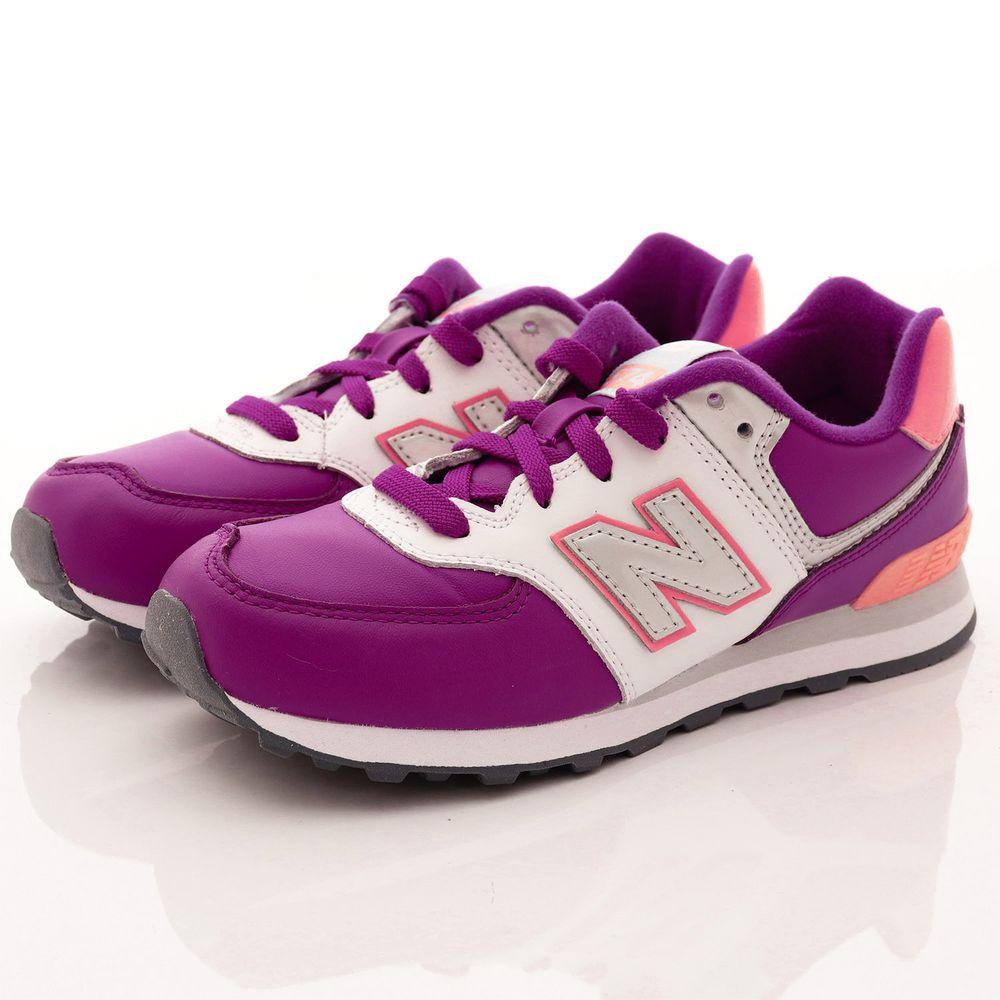 New Balance - New Balance慢跑鞋-574機能慢跑款(中大童段)-粉