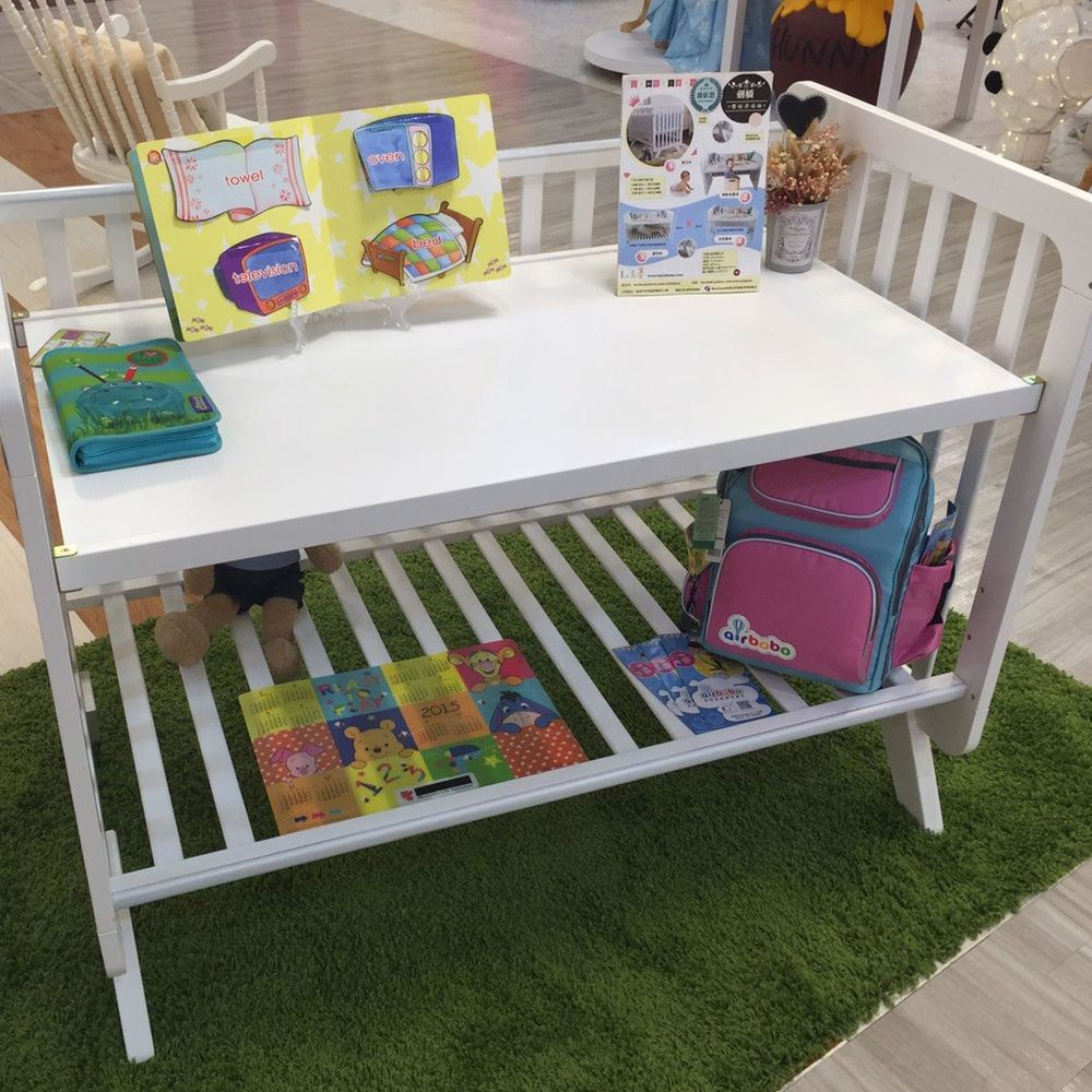Rockland - 劍橋書桌床-附6公分墊+變書桌-白色 (120X65)