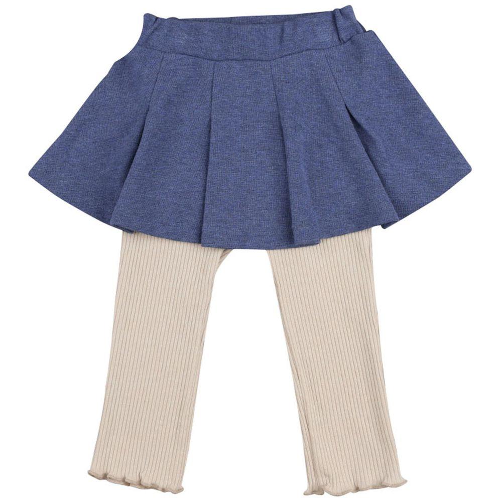 akachan honpo - 假兩件內搭裙褲-藍色