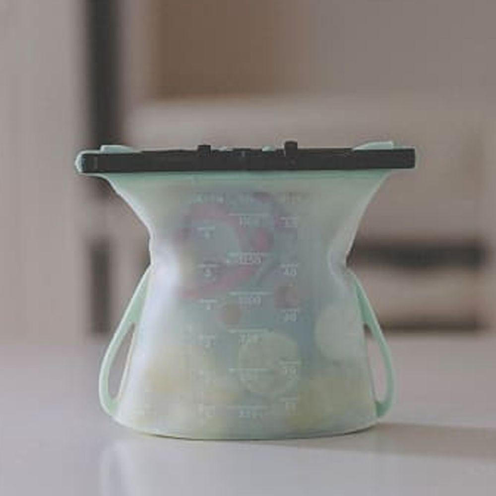 仁舟淨塑 - 矽密袋-蘋果綠-1500ml