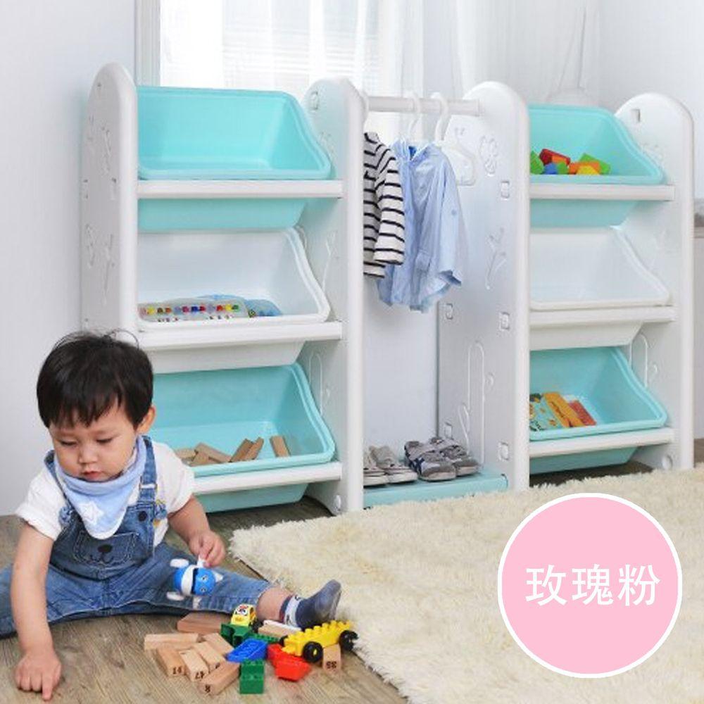 家窩 - 伊格玩具斜取衣架雙櫃組-DIY-玫瑰粉