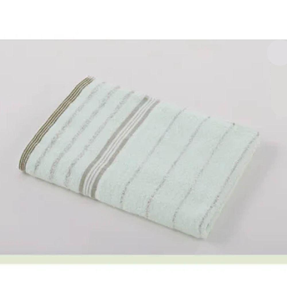 貝柔 Peilou - 高級純棉大浴巾-條紋系列-粉綠 (60x137cm)-2入組