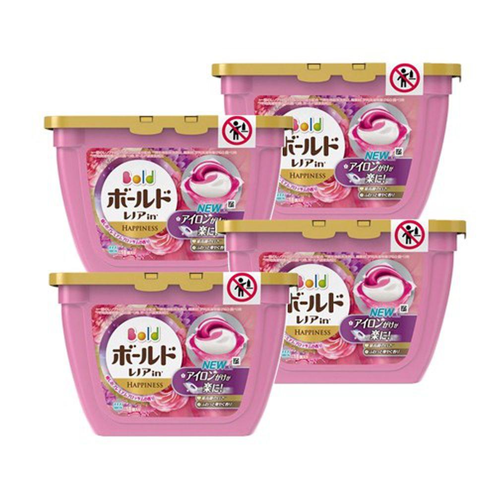日本 P&G - 2019最新版-洗衣膠球-牡丹香氛-18顆入/盒(347g)*4