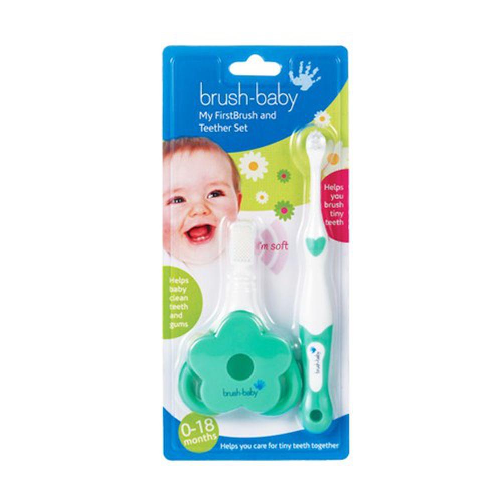 英國 brush-baby - 寶寶的第一套乳齒潔牙組-0-18M