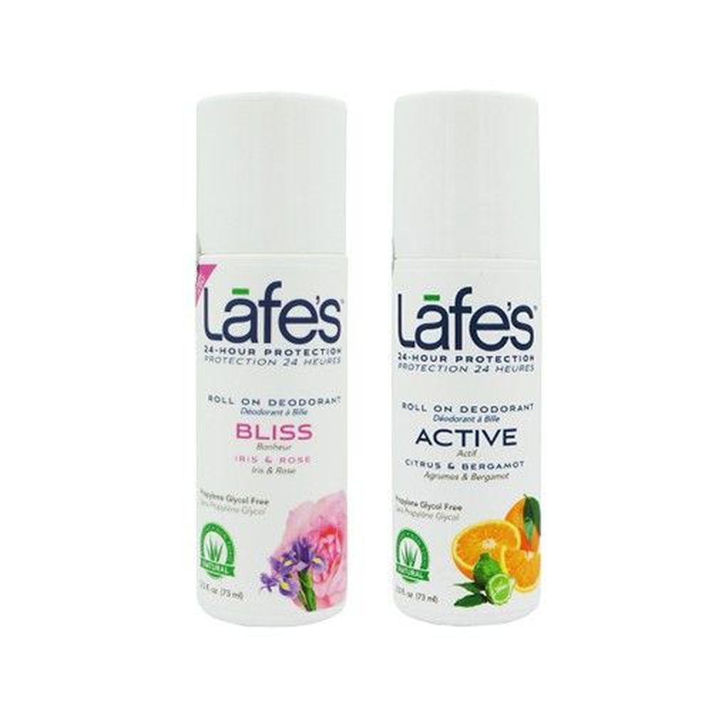 美國 Lafe's organic - 純自然體香劑雙入組-粉嫩+運動
