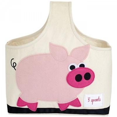 手提收納包-粉紅豬
