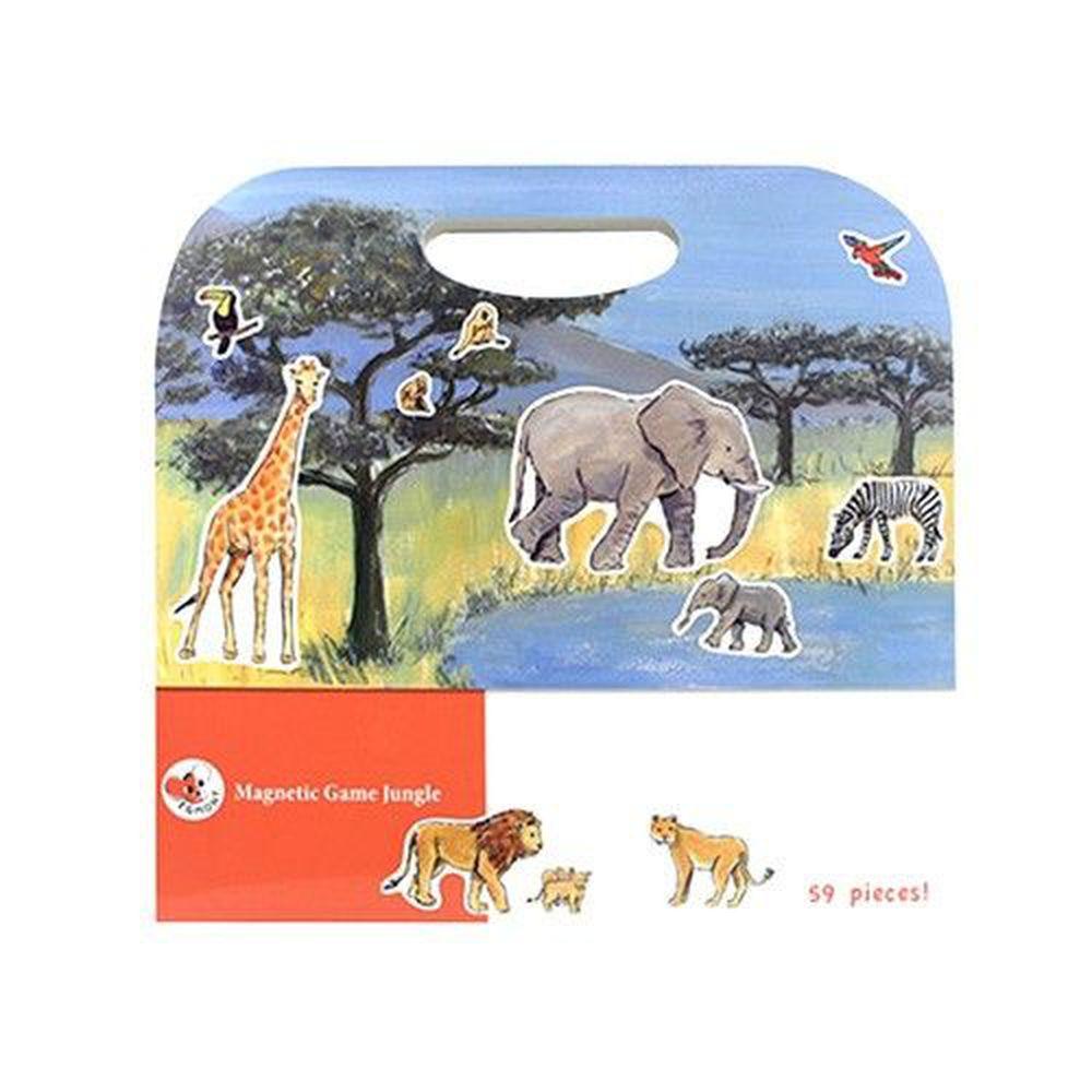 比利時艾格蒙 - 繪本風磁鐵書-叢林動物大冒險-25x24x1 cm