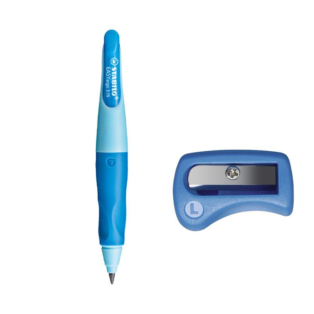 STABILO思筆樂 - 3.15mm 胖胖鉛 人體工學自動鉛筆 左手 淺藍/深藍 附削鉛筆器