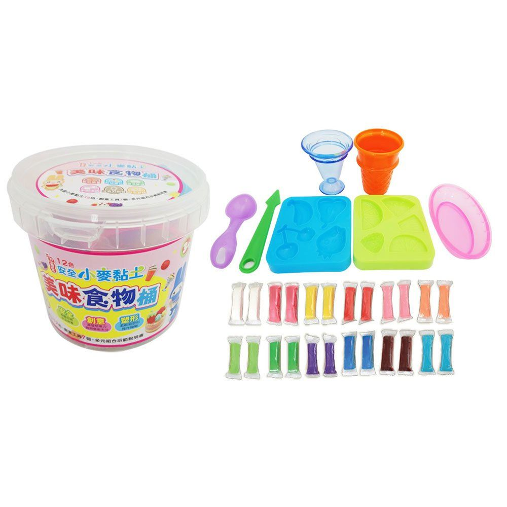 幼福文化 - 忍者兔安全小麥黏土12色《美味食物桶》